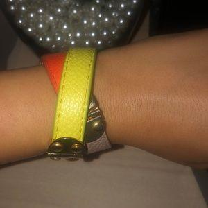BCBG MaxAzria Leather wrap bracelet